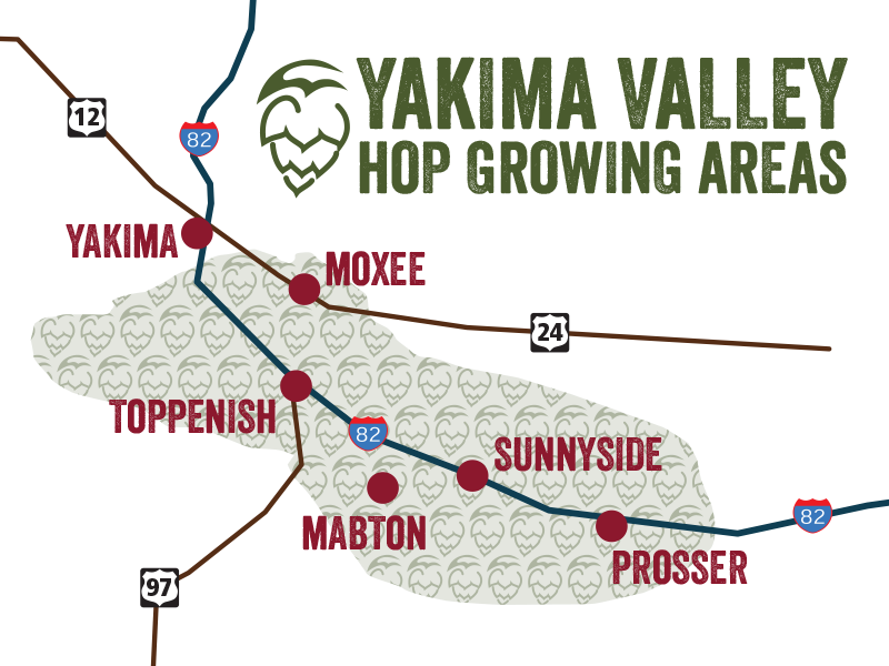 Yakima Valley Hop Growing Areas